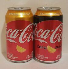 (2) Coca-Cola Orange Vanilla (Regular and Zero Sugar)