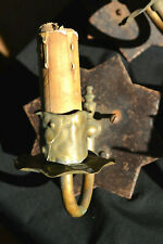 Stunning Antique Arts & Crafts/Mission Brass & Cast Iron Wall Sconce (3 of 3)