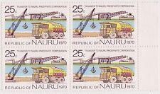 (Pie-22) 1975 Nauru 25c phosphorous mining 4block Muh (D)