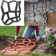 Reusable Paving Moulds Patio Path Concrete Slabs Garden Walk Maker Hot Moulds