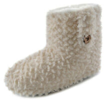 LADIES FAIRISLE SNOWFLAKE AZTEC POLKA FUR SLIPPER BOOTS ANKLE BOOTIE SIZE UK 3-8