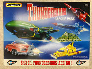 🌈 THUNDERBIRDS RESCUE PACK 1994 MATCHBOX 5 DIE CAST VEHICLE SET
