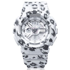 New Casio White Baby-G Leopard Pattern Ladies Watch BA-110LP-7A