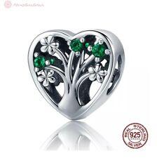 Charm Anhänger w.f. Pandora Baum des Lebens Blumen Ast Perle 925 Sterlingsilber
