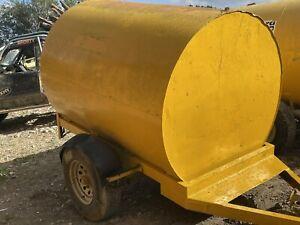Fuel Tank Site Bowser Diesel towable 2000L tanker