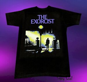 New The Exorcist Poster 1973 Horror Movie Mens Vintage T-Shirt