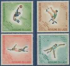 LAOS N°189/192* Jeux olympiques de Mexico, TB, 1968,  Olympic Games #178-81 MH