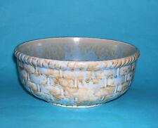 Vintage Original Shorter & Son  - Pretty Basket Weave Pattern Duo Colour Bowl.