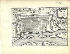 Antique map, Sevre ou Bellegarde (Sevres)