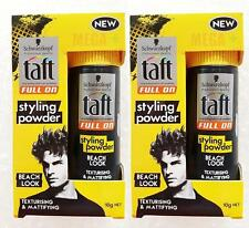 2 x SCHWARZKOPF TAFT FULL ON ROUGH and TOUGH HAIR STYLING POWDER 10 G.