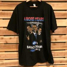 NWOT NEW President Obama 4 More Years Graphic Print Bootleg Rap Tee T Shirt L