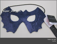 ~* TOPSHOP BLUE SEQUIN BAT WING MASK DRESS UP PARTY with STRAPS *~
