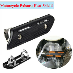 1x Motorcycle Exhaust Muffler Pipe Heat Shield Protector Guard with Mounting Kit