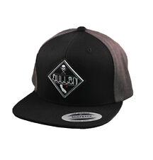 Sullen State Of Mind Skull Tattoo Punk Skater Goth Blk/Gry Snapback Hat Cap Hat