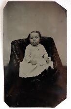 FERROTYPE PHOTO ENFANT bébé PHOTOGRAPHIE ANCIENNE O879