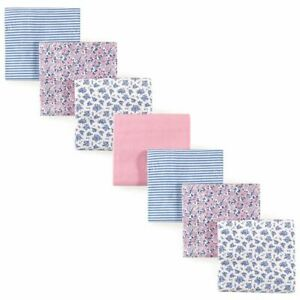 Hudson Baby Girl Flannel Receiving Blanket, 7-Pack, Classic Floral