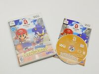 Nintendo Wii Mario & Sonic At The Olympics Game W/ Case And Instruction Booklet