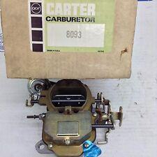 NOS CARTER BBD CARBURETOR 8093S 1977 CHRYSLER ASPEN VOLARE DIPLOMAT 318 ENGINE