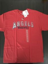 BRAND NEW X-LARGE LOS ANGELES ANGELS OF ANAHEIM T SHIRT RED MAJESTIC GENUINE MLB