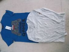 BUNDLE OF 2 NEW WITH TAGS BOYS LONG/SHORT SLEEVED TOPS 9-10 YEARS