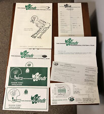 RARE 1975 WFL World Football League Chicago Winds Lot TraIning Camp Guide etc