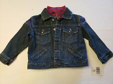 Guess Baby Jacket 18 M Denim Zip Snap Front Layered Look Baby Boy NEW v