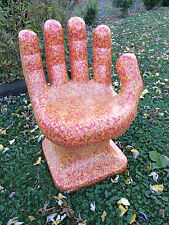 "Granite Orange Yellow & Red HAND SHAPED CHAIR 32"" adult 70s Retro iCarly NEW"