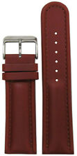 Leather Watch Band w/ Match Stitch 18mm Panatime Med. Brown Padded Saddle