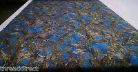 """Hunting Camo True Timber MC2 Cobalt Blue Fabric 60""""W Poly Taffeta Camouflage"""