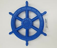 JUMBO SHIP WHEEL~BLUE Cubby House Accessories Fort Playground Equipment