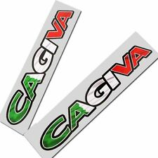 Cagiva Italian flag style text  Motorcycle graphics,stickers,decals x 2PCS SMALL