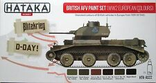 Hataka HTK-AS22 Segunda Guerra Mundial (Teatro europea) Pintura Británica AFV 6 Color Set