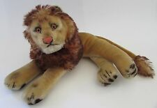"VTG Steiff Reclining Leo the Lion with Mane 12"" EUC"