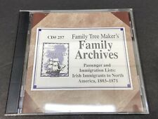 Family Tree Maker Passenger & Immigration List Irish Immigrants to North America