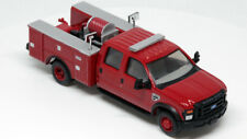 River Point Station 1/87 (HO) Scale Ford F-550 Crew Cab Brush Truck Fire - Red