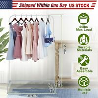 Heavy Duty Garment Rack Detachable Freestanding Clothes Stands Organizer Steel