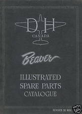 DE HAVILLAND CANADA BEAVER - ILLUSTRATED SPARE PARTS