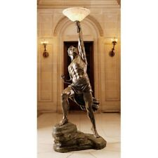 Antique style 19th Century Replica Prometheus Sculptural Floor Lamp by Artist JB