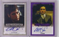 2) Leaf Pop Century Al Pacino Silver Purple Auto Lot #/10 Scarface Godfather