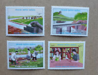1988 LAOS COMPLETION OF 1st FIVE YEAR PLAN SET OF 4 MINT STAMPS MNH
