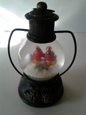 "Cardinal Christmas Snow Globe Lanter 5"" tall"