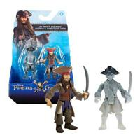 DISNEY PIRATI DEI CARAIBI ACTION FIGURE JACK SPARROW + GHOST CREWMAN PERSONAGGI