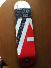 New Rdi Red White Black & Natural Skateboard Deck 8.25""