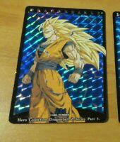 DRAGON BALL Z DBZ HERO COLLECTION PART 3 CARD RARE PRISM CARTE 324 NM
