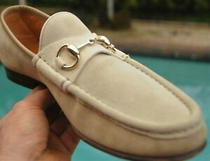 Men's GUCCI Three tone  suede Trendy Loafers shoes   Gucci Brand Size  8.5 D