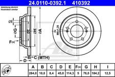 2x Bremsscheibe für Bremsanlage Hinterachse ATE 24.0110-0392.1