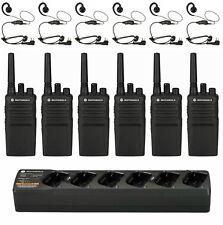 6 Motorola RMU2080 Radios with Bank Charger & Headsets + Rebate for a Free Radio
