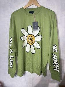Lazy Oaf Dont Worry Be Happy Long Sleeve Top. New Tgged Size Medium
