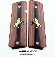 Altamont 1911 Grips - Classic Panel Real Wood Gun Grips Ambi Safety Made in USA