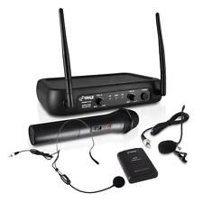 NEW Pyle PDWM2140 VHF Wireless Microphone System w/Handheld  Lavalier & Headset